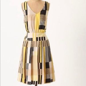Maeve, Otta Silk Plaid Dress, Size 0
